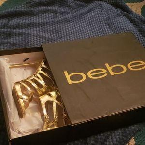 Gold BEBE Heels
